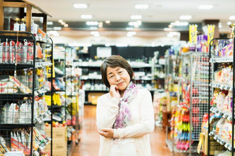 シニア、高齢者の日常生活の困り事=買い物。実は健康増進に最適!